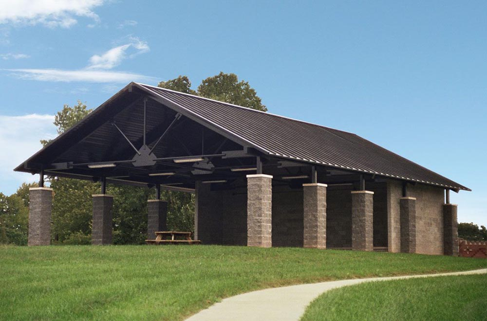 Eykamp Scout Center in Evansville Indiana shelter design